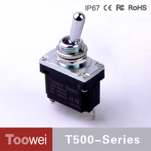 Big Current DPDT T500 Series Waterproof IP67 4P sample free mini toggle switch