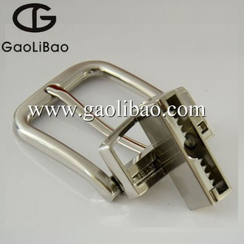Gaolibao newly style pin belt buckle with turning reversible buckles OEM ODM ZK-350627