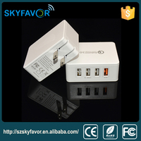 High quality quick charger 3.0 as good as best brand 4-port usb charger for iphone ipad and Android phone