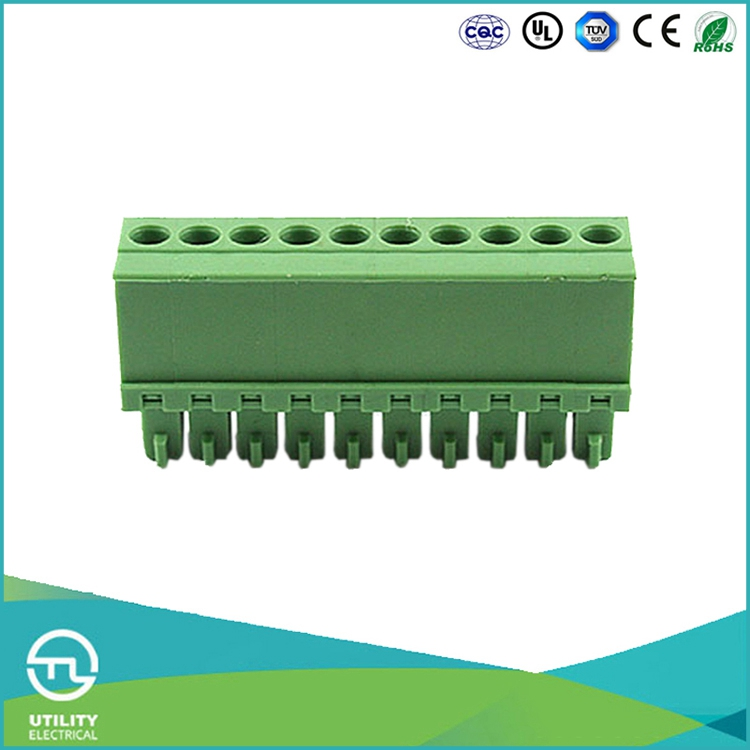UTL PA66 Ul94v0 Euro PCB Screw Terminal Block Connector Pitch 3.5mm Solid 0.08-1.5mm
