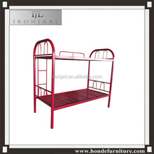 latest metal bed design red tube metal frame double decker bunk bed