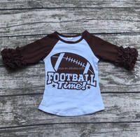 wholesale icing ruffle shirt children ruffle baseball shirt football kids t shirt