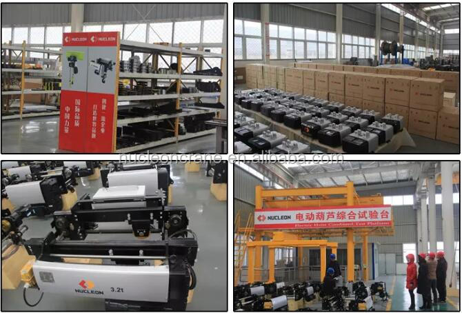New European Motor Lifting Traveling compact electric cable hoist for crane
