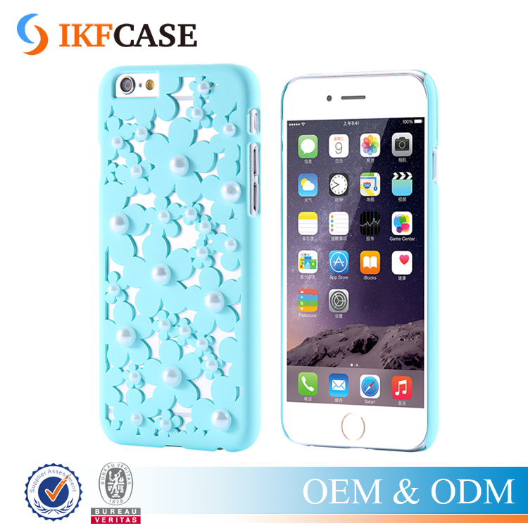 New Handmade Clear Daisy Pearl Crystal Diamond Bling Flower Case Little Daisy Flower Phone Cases For iPhone 5/5S/SE/6