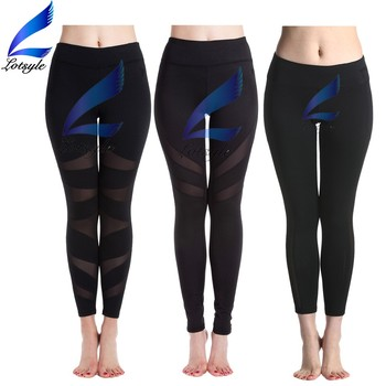 Custom Yoga Pants With Mesh Design Woman Workout Leggings
