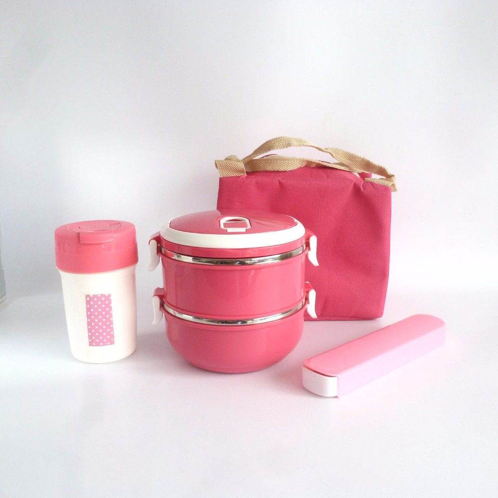 stainless steel lunch box picnic set with bag
