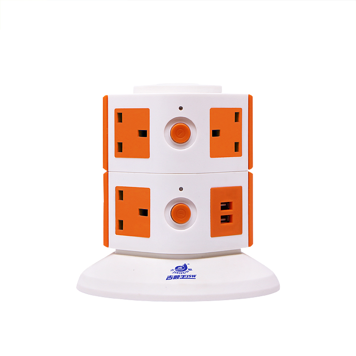alibaba uk 2 layers 250V british table top electrical outlets with dual USB ports