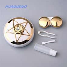 Australia Best selling eyewear accessories laddies girls korea wholesale small luxury contact lens case with mirror