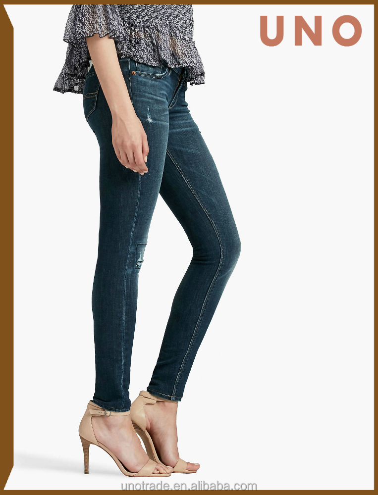 W0179 Wholesale Sexy Skinny Denim Jeans for Women Ripped Push Up Female Jeans