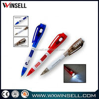 New design promotional 2014 3 in 1 plastic ball pens