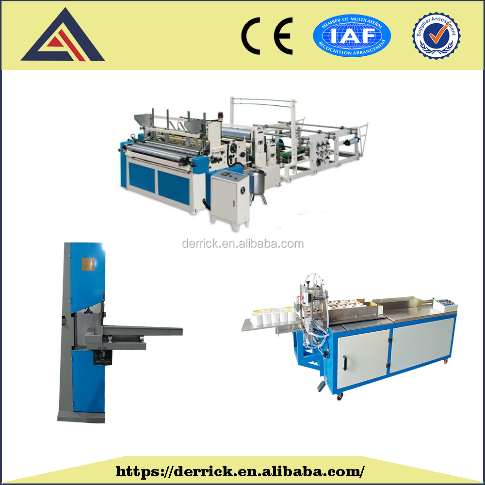 Semi Automatic Small Toilet Paper Production Line With Good Quality