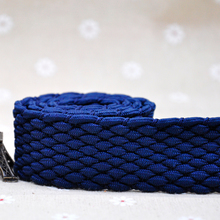Suppliers Dyeing Thick Woven Braided Cotton Webbing Belt For Belt