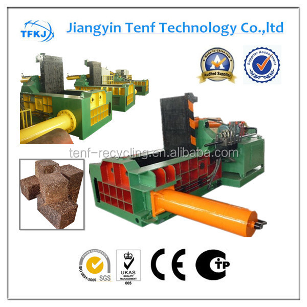 Bale push out type scrap metal press aluminum compressing machine CE