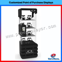 Wholesale retail store metal sunglasses stand display furniture