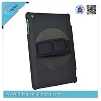 360 rotating handhold case for ipad mini clip case