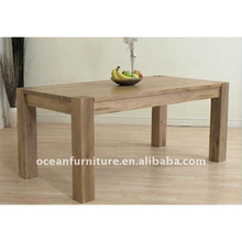 Wholesale cheap solid oak wooden dining table