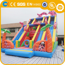 Fashional ocean theme Inflatable slide,commercial inflatable slide for rental,giant inflatable slide for sale