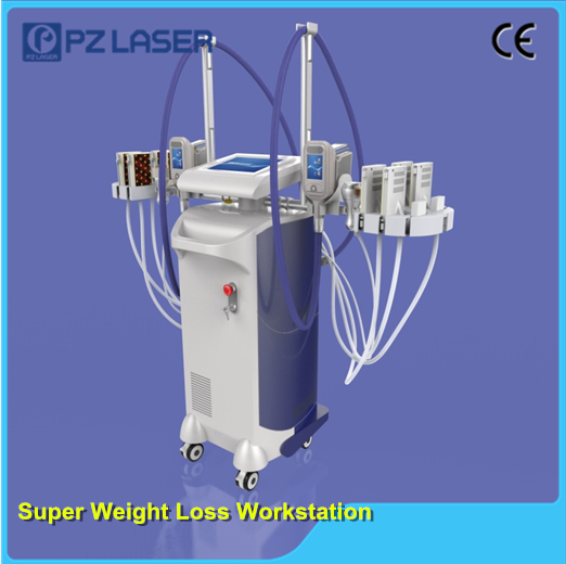 Newest Super Weight Loss Work Station cryolipolysis cavitation rf lipo laser 4 in 1 weight loss machine