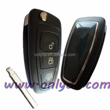 Black color ford remote flip key with 433mhz