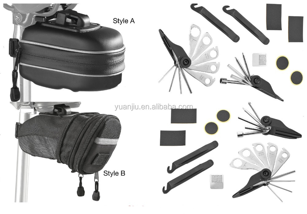 Bicycle Repair Set Bike Outdoor Seat Saddle Bag 17 in 1 Multi Function Tool Kit Chain Splitter