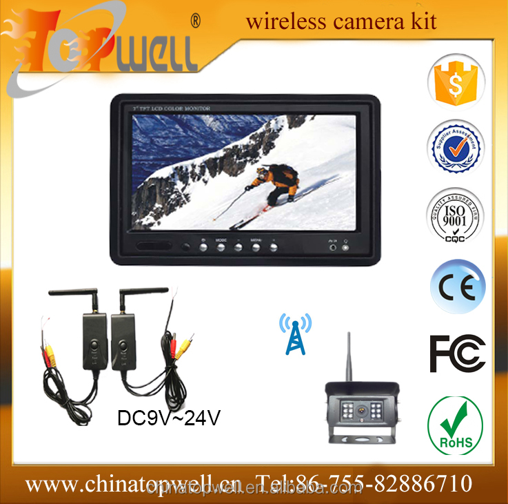 2.4 G Transimtter and receiver with car moitor and wifi camera