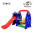 New designed cheap plastic children outdoor silding and swing set
