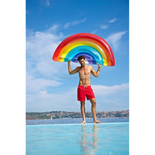 inflatable rainbow pool floats water beach toys for adults