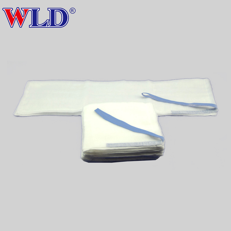 Permeable pre washed non-sterile 100%cotton lap pad sponge