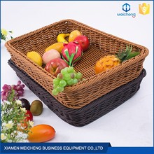 2017 High quality accept OEM rectangle rattan rising bread basket