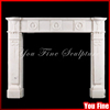 Indoor Used Freestanding Decorative White Marble Fireplace