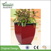 Plastic flower pot glazed flowerpot with flower pot