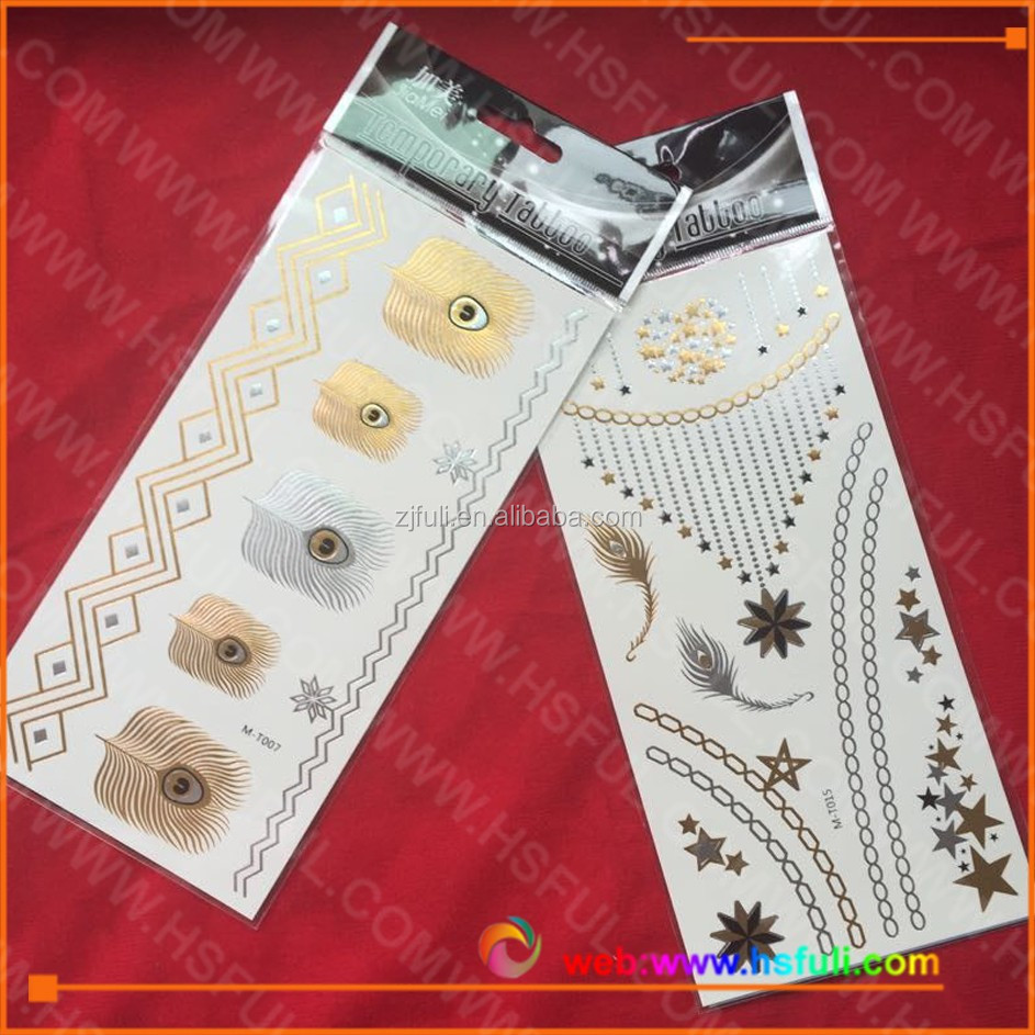 new product Temporary Metallic Flash Tattoos