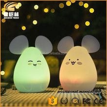 Portable Cute LED Children soft silicone Night Light Multicolor Baby Nursery Lamp