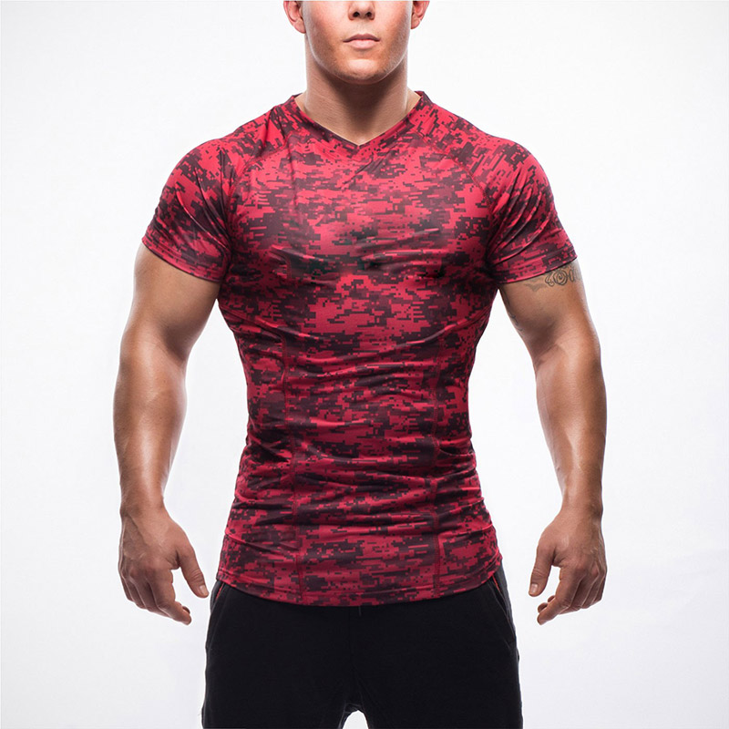 wholesale fitness clothing Long Muscle FIit T-Shirt Gym fitness Wear Clothing