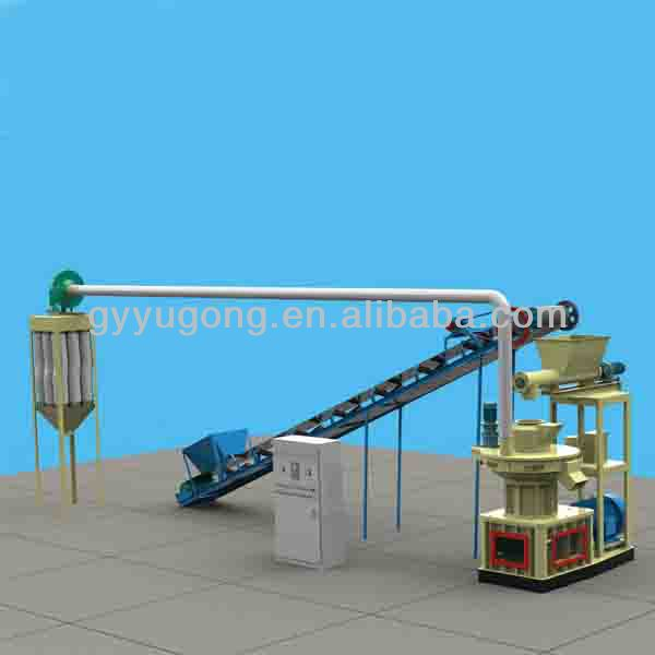 Double ring die wood biomass pellet making machines to produce pellet prices