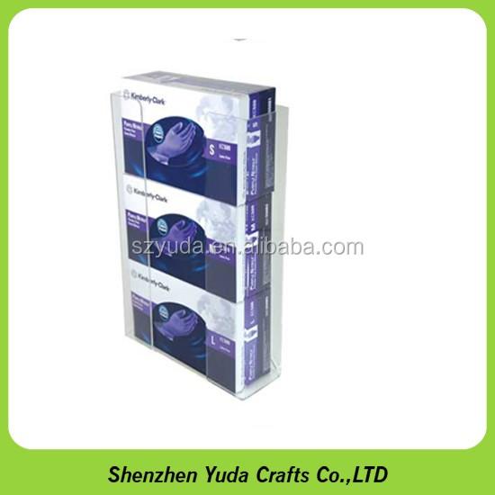 Glove Box Holder Wall Mount Acrylic Triple Caretek