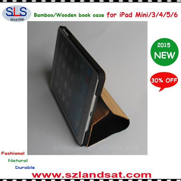 2015 NEW ARRIVAL wood cover for ipad air wood book case IBC10