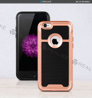 Case tpu mobile phone cover, pc+tpu combo unlocked phone case for iphone 6s