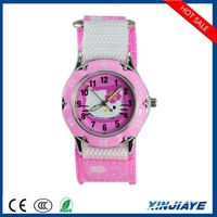 ShenZhen cute cartoon hello kitty cat nylon strap children watch profeshional gift for girls children wristwatch