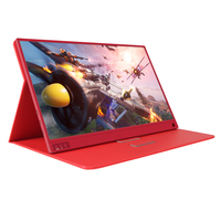 Latest Technology Red 15.6 inch 1080P Capacitive Laptop Touch Screen Portable Monitor with Type-C PS4 X-Box gaming