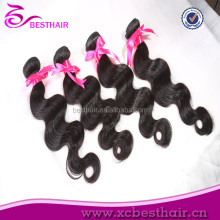 Promotion!brazilian human body wave hair weave international