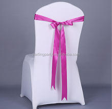 weding party fabric chair cover sash