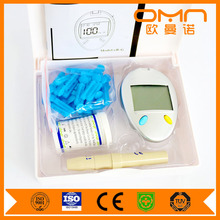 Health Enhance Machine Blood Glucose Monitor System Glucoleader One Touch Equipment Cheap Price Glucometer Kits for Family Use
