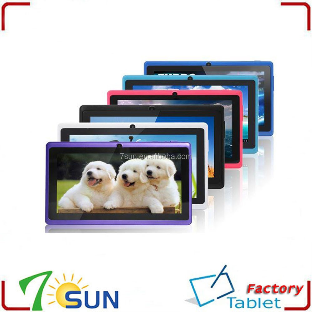 "Colorful 7 inch Q88 Tablet Allwinner A23 Cheapest Dual Core PC 7"" 512MB RAM 4G Rom different types of tablets"
