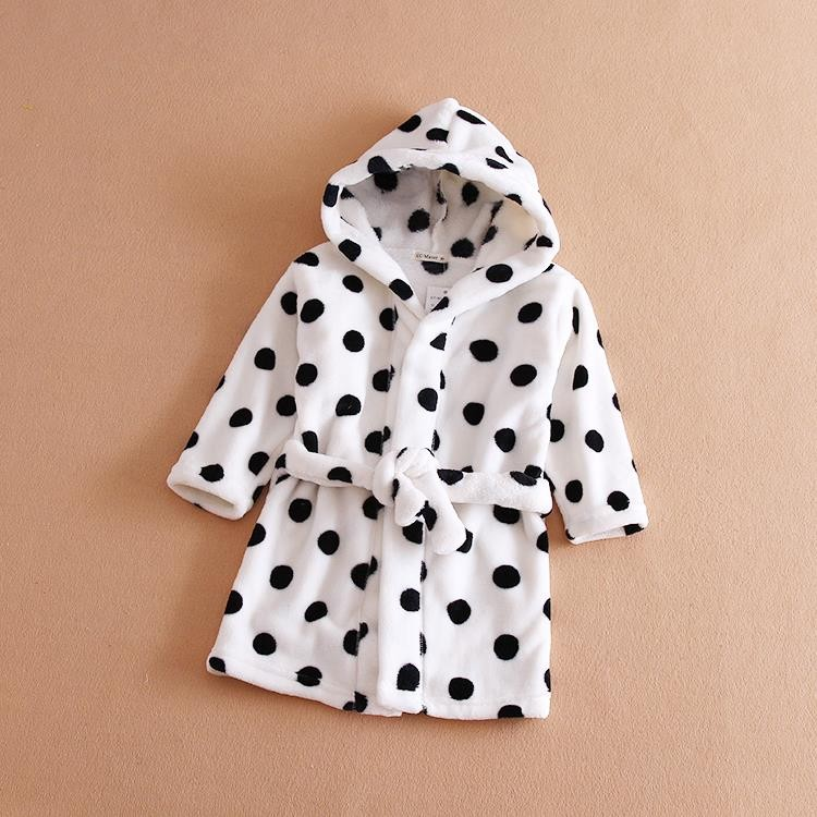 Autumn Winter Kids Toweling Robes Baby Boys Girls Bathrobe Children Bathing Suit Bath Robe