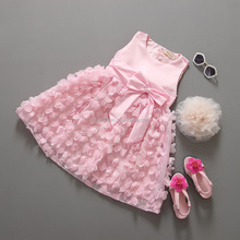 Summer new fashion sleeveless party bithrday princess <strong>girl's</strong> <strong>dress</strong>
