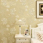 Royal flower embossing modern room wall wallpaper elegant decoration Eco-friendly non-woven 3D designs wallpaper