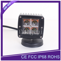12W led work light led driving light square for truck car suv off road light