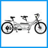 2 cyclists 2 wheeler adult E bicycle