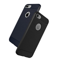 luxury brushed carbon fiber tpu case for iphone 7 / 7 plus